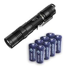 Nitecore MH12 Rechargeable Flashlight w/8x FREE Eco-Sensa CR123A Batteries