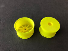 "2.2"" 1/10 Yellow Rear Buggy Wheels Rims 2wd 4wd 12mm (B6,RB6,ZX6,22) KYOW5202Y"