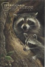 Pennsylvania Game News November 1998 cover by Laura Mark-Finberg Raccoons