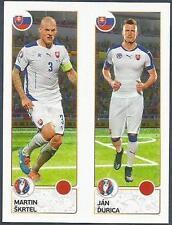 PANINI EURO 2016- #209-A-B-SLOVAKIA-MARTIN SKRTEL / JAN DURICA IN ACTION