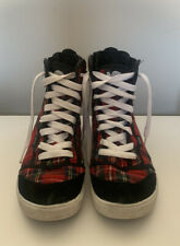 Etnies High Top Sneakers Trainers Tartan Zip Punk Emo UK 5 Zanza W's
