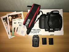 Canon EOS 60D 18.0MP DSLR Camera - Black Body + Batteries low Shutter 12k