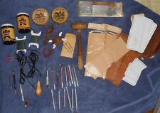 VINTAGE LOT CRAFTOOL CO USA CRAFT TOOL LEATHER BELT WALLET LEATHER WORKING