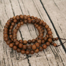 New Wenge Prayer Beads Tibetan Buddhist Mala Buddha Bracelet Rosary Wooden