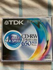 'TDK' - CD-RW (650MB 74Min)