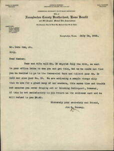 1922 Nacogdoches Texas (TX) Letter Nacodoches County Brotherhood,Home benefit