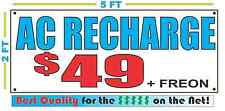 AC RECHARGE w CUSTOM PRICE Banner Sign NEW Larger Size Best Quality for The $$$