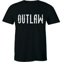 Outlaw Text Biker Loner Rebel Independent Western Old Enemy Tee Mens T-shirt