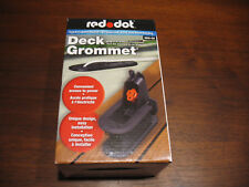 Wood Deck Grommet red dot extension cord shrouded cover outdoor protector DKG-CA