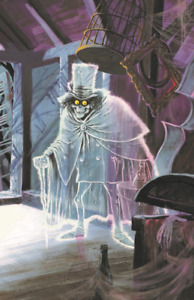 Haunted Mansion Hatbox Ghost Concept 11x17 Poster Print Disney