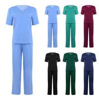 Doctor Medical Nursing Men Womens Scrub Set Top Long Pants Hospital Uniform Suit