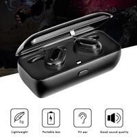 TWS Waterproof Headphones Wireless Bluetooth4.1 Headset Stereo Earphone Earbuds