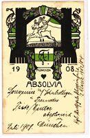 """Ansichtskarte/Postkarte - Studentika """"Absolvia Maria Theresia München"""" 1908"""