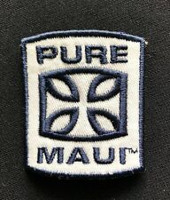 """Vintage """"Pure Maui"""" Embroidered Patch- 2"""" x 1 3/4"""" Surfing Hawaii Summer Fun!"""