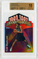 TIM DUNCAN Rookie Card RC 1997 Topps Generations #G28 Perfect BGS 10 Pristine 🔥