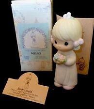 NIB - 1985 Precious Moments Bridesmaid Figurine (E-2831) ~ Dove Symbol