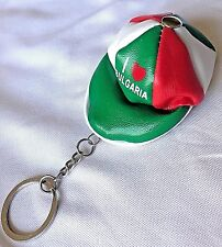 "Super Cute Leather Cap/ Hat Key Chain Coin Purse Souvenir ""I love Bulgaria"" BNEW"