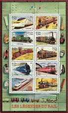 2001 FRANCE BLOC N°38** Bf Collection jeunesse, les légendes du rail, TRAINS MNH