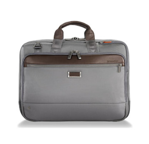 Briggs & and Riley Work Large Expandable Briefcase in Grey $379