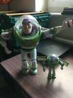 Original Blue Ribbon Flames Buzz Lightyear Talking Figure For Spares Repairs