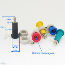 20sets 5 colors 3.5mm Banana Female Socket Binding Post 3.5mm Terminal Probes