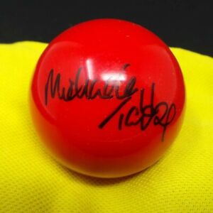 Michaela TABB Signed Autograph Snooker Ball 3/4 Size Red Colour AFTAL RD COA