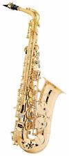 Lechgold LAS-20L Alt Saxophon Messing Lackiert Leicht Koffer Mundstück Saxofon