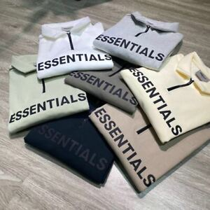 Unisex FOG Essentials Fear of God Half zipper lapel Loose sweatshirt