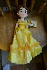"""DISNEY PARKS BEAUTY & THE BEAST 18"""" PLUSH BELLE DOLL NEW WITH TAGS"""