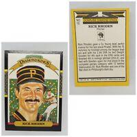 1987 Donruss Diamond Kings Rick Rhoden Pittsburgh Pirates #10 Baseball Card