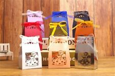 50/100Pcs Creative Candy Box Folding Carton Wedding Favor Paper Gift Boxes Party