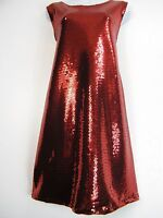 STUNNING PLUS SIZE SLEEVELESS 100% POLYESTER SEQUINNED PARTY DRESS 2 COLS 16-26