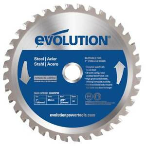 "Evolution Saw Blades For Steel - 7-1/4"" Circular Saw Blade"