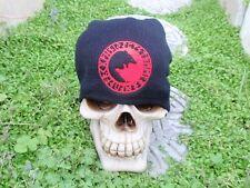 wolf circle runes red embroiderd beanie hat thors hammer asatru norse