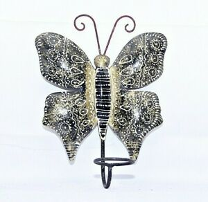 Handmade Colorful Butterfly Design  Iron Tea Light,Tall  Tumbler/ Candle Holder