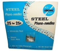 Vintage Pack Of 25 Lebo Steel Phonograph Needles - New On Card