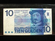 NETHERLANDS 10 GULDEN 1968 13# BANK CURRENCY BANKNOTE MONEY