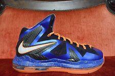 "WORN TWICE Nike LeBron PS Elite ""Super Hero"" X 10 SIZE 8 Blue Orange White"