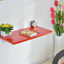 Great Red  Wall Mount Floating Folding Computer Desk Home Office PC Table Well