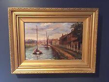 Antique 19th C Oil On Canvas 'Bishops Bridge,Norwich' Charles Frederick Rump