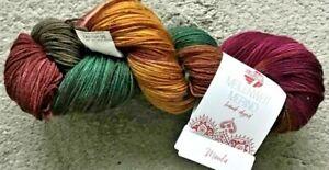 (100g/12,50€) NEU! Meilenweit hand-dyed 100g Fb.312 Sockenwolle handgefärbt