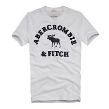 XXL ABERCROMBIE and FITCH par HOLLISTER col ras du cou T Tee Shirt en Blanc.