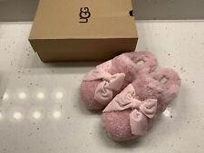 ugg addison velvet bow Pink slipper Size 7