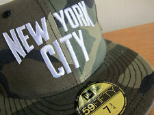 John Lennon New York City Camo 59FIFTY Fitted Cap 7 3/4 hat yankees beatles era