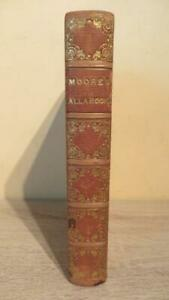 """1838 """"LALLA ROOKH"""" by THOMAS MORE - ILLUS - VERY NICE FULL LEATHER BINDING"""