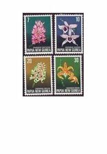 Papua New Guinea 1974 ORCHIDS (FLOWERS) (4) Unhinged Mint SG 273-6