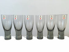 6 Holmegaard Denmark Wine Glasses in Original Box w Labels Canada Pattern