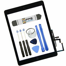 Touch Digitizer Screen + Home Button Flex + Adhesive Assembly iPad Air 1 (Black)