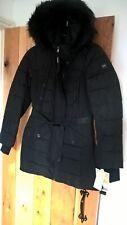 Womens MK Michael Kors Black Fur Hood Trim Parka coat jacket Small S approx 10