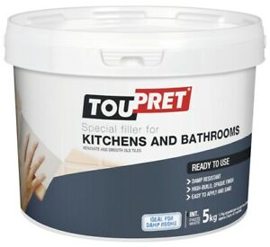 Toupret Special Filler For Kitchen & Bath Ready To Use Ideal For Damp Rooms 5KG